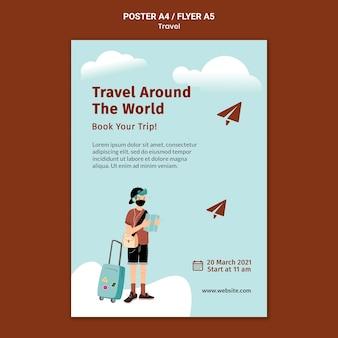 Reisedruckvorlage illustriert
