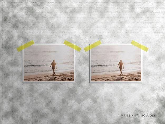 Reisefotorahmen polaroid-modell-set