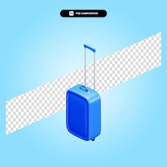 Reisekoffer 3d-darstellung isoliert