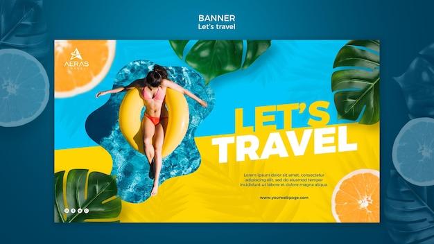 Reisekonzept banner vorlage