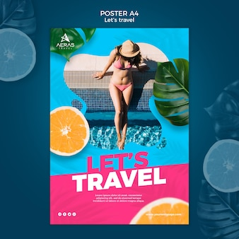 Reisekonzept poster vorlage