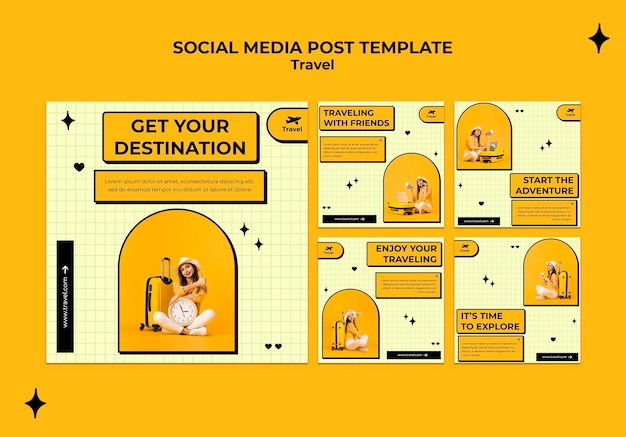 Reisekonzept social media post
