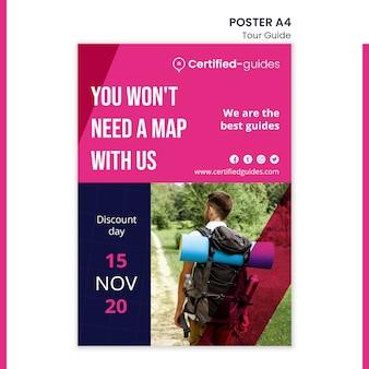 Reiseleiter poster vorlage