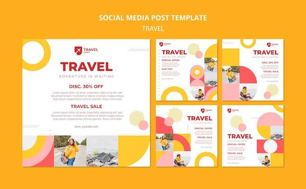 Reisen sie mit rabatt social media post