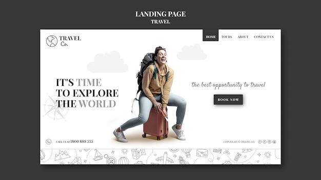 Reisen sie um die welt web-vorlage