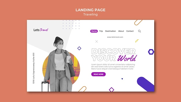 Reisende landingpage