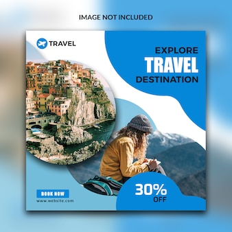 Reisepost für social media