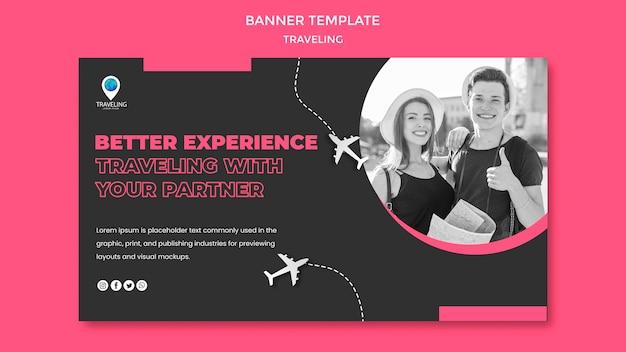Reisevorlage banner vorlage Kostenlosen PSD