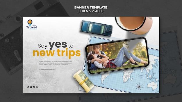Reisezeit-banner-vorlage