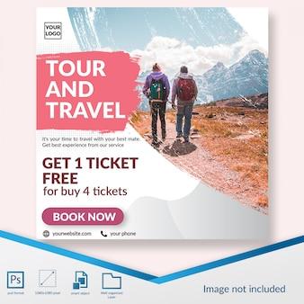 Reisezeitrabatt bieten social-media-beitrag vorlage