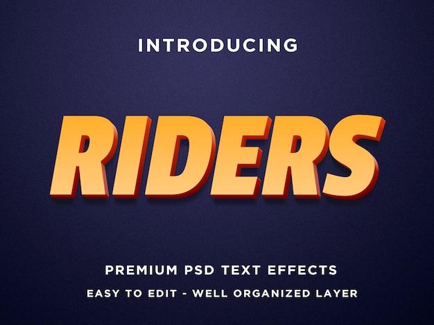 Reiter 3d text effekt