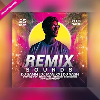 Remix klingt party flyer