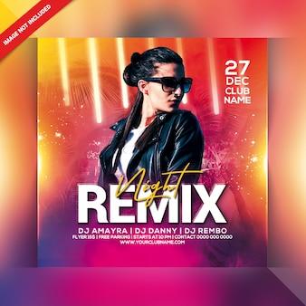 Remix nacht party flyer
