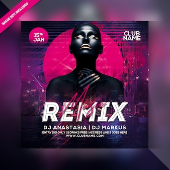 Remix-party-flyer