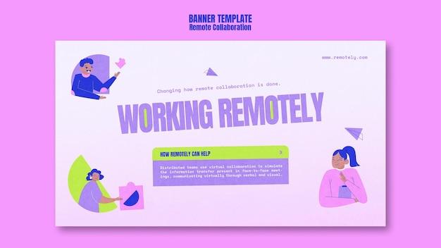 Remote-banner-vorlage arbeiten