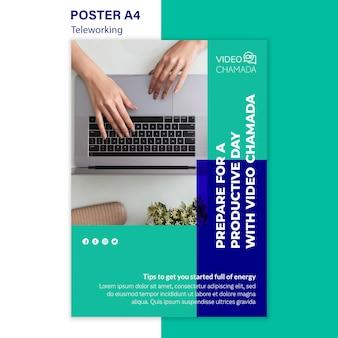 Remote work poster vorlage