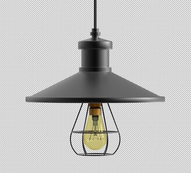 Render der isolierten deckenlampe