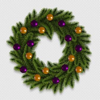 Rendering des weihnachtskranzes 3d