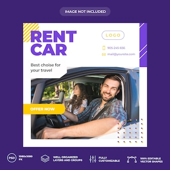 Rent car social-media-banner-vorlage