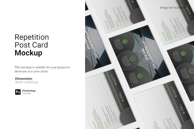 Repetition post card mockup design isoliert