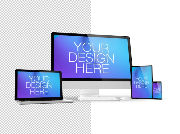 Responsive devices mockup isoliert