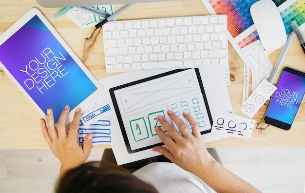 Responsive tablet und mobile mock-up