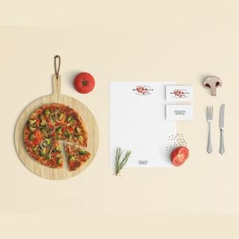 Restaurant briefpapier mock-up