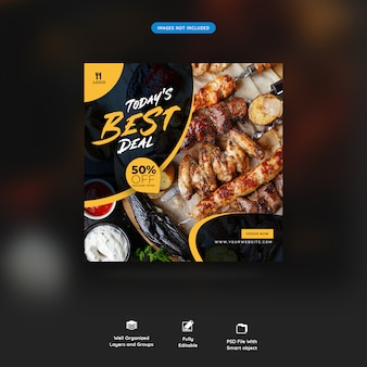 Restaurant essen social media beitrag