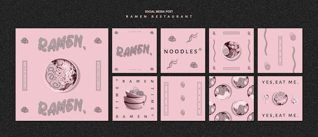 Restaurant für ramen social media post