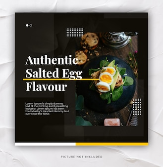 Restaurant instagram post template elegant trendy dynamic
