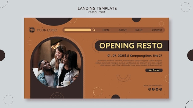 Restaurant landing page vorlage
