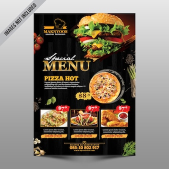 Restaurant-menü-flyer