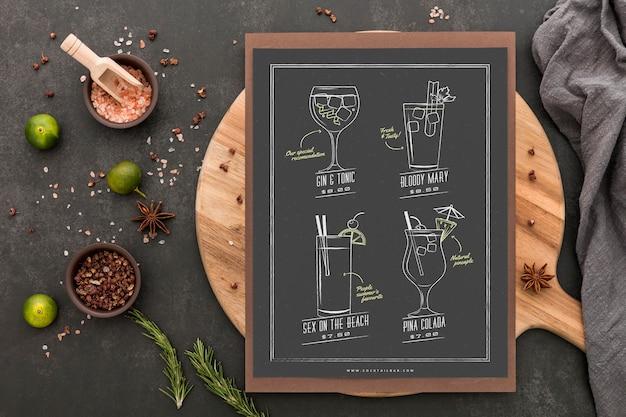 Restaurant-menü-konzept-modell