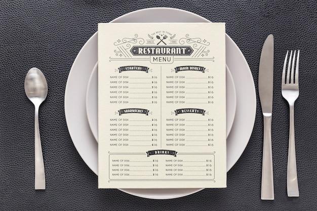 Restaurant menü konzept modell