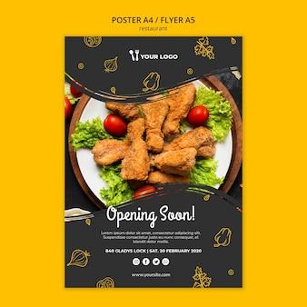 Restaurant poster vorlage