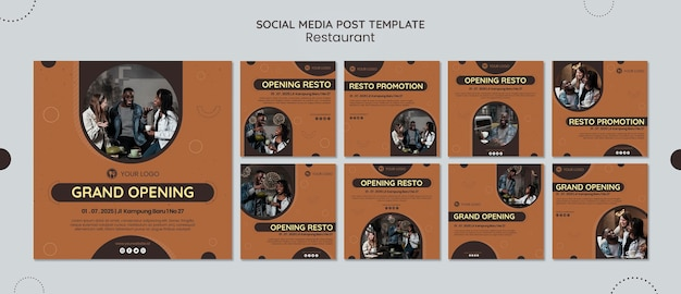 Restaurant social media post vorlage