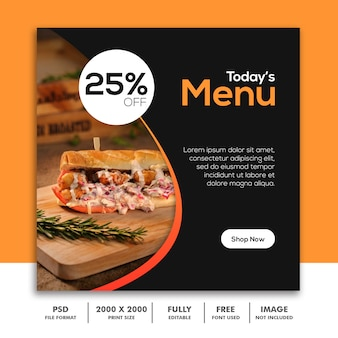 Restaurant social media vorlage beitrag