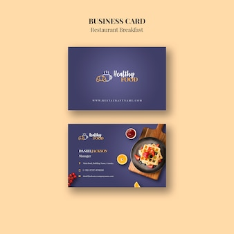 Restaurant visitenkarte vorlage