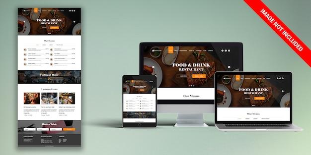 Restaurant-web-vorlage psd