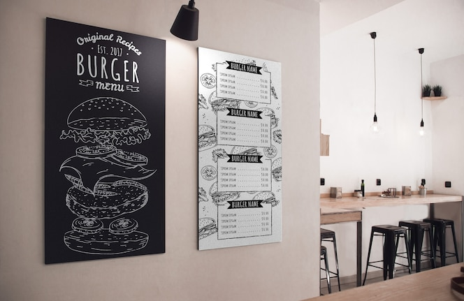Restaurantmenü des tages in kreide