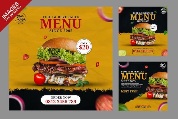 Restaurantspeisekarte mit holzhintergrundschablone