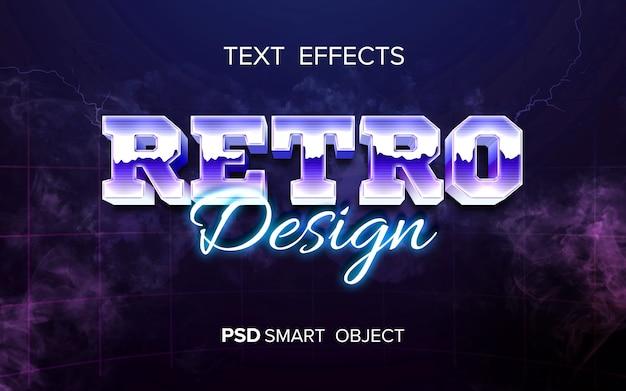 Retro-arcade-texteffekt Kostenlosen PSD