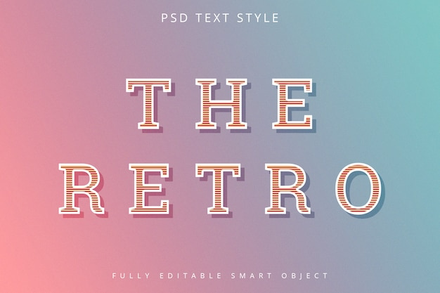 Retro art-text-effekt