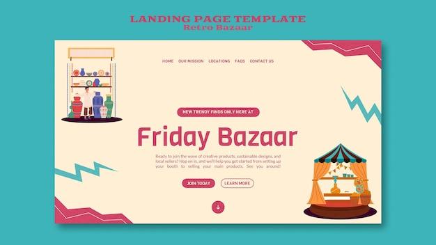 Retro-basar-webvorlage