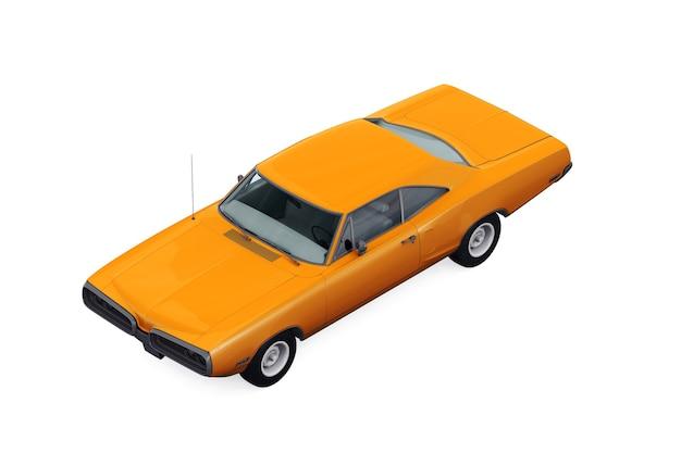 Retro coupé auto 1970 modell