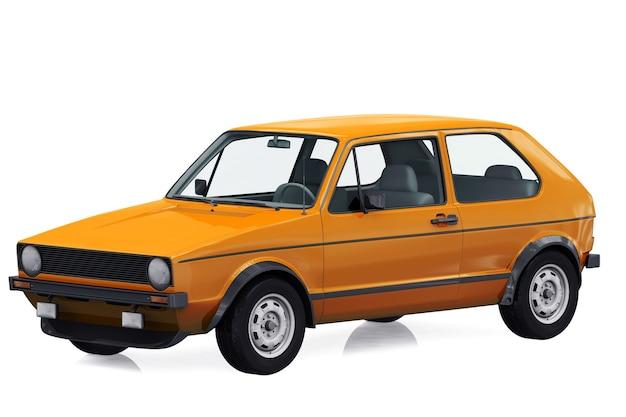 Retro coupé auto 1975 modell