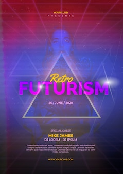 Retro-futurismus-plakatschablone