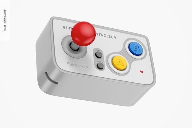 Retro game controller mockup, schwebend