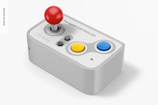 Retro game controller mockup
