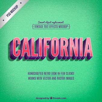 Retro kalifornien schriftzug
